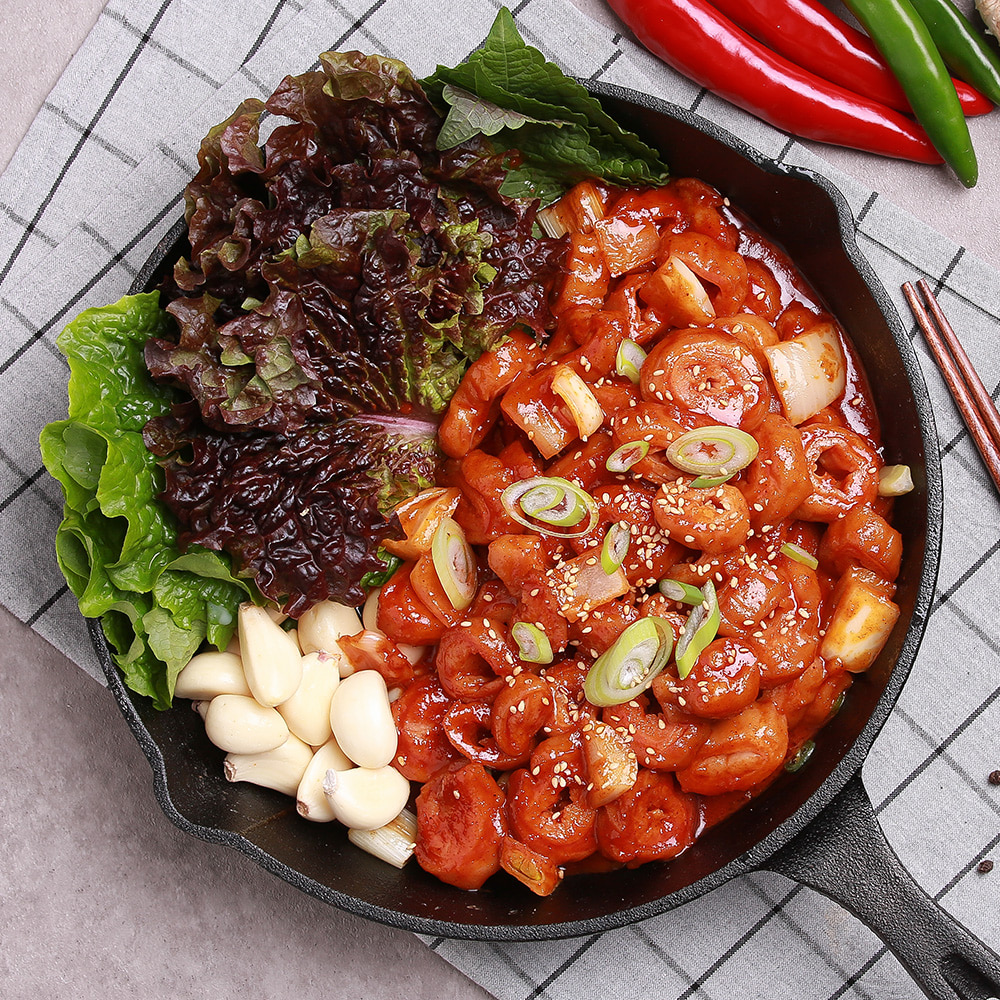 꾸브라 태양초 매콤 양념막창 300g 1팩