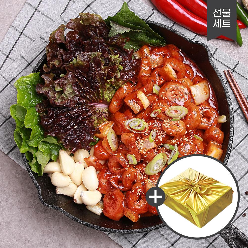 꾸브라 태양초 매콤 양념막창 300g 4팩