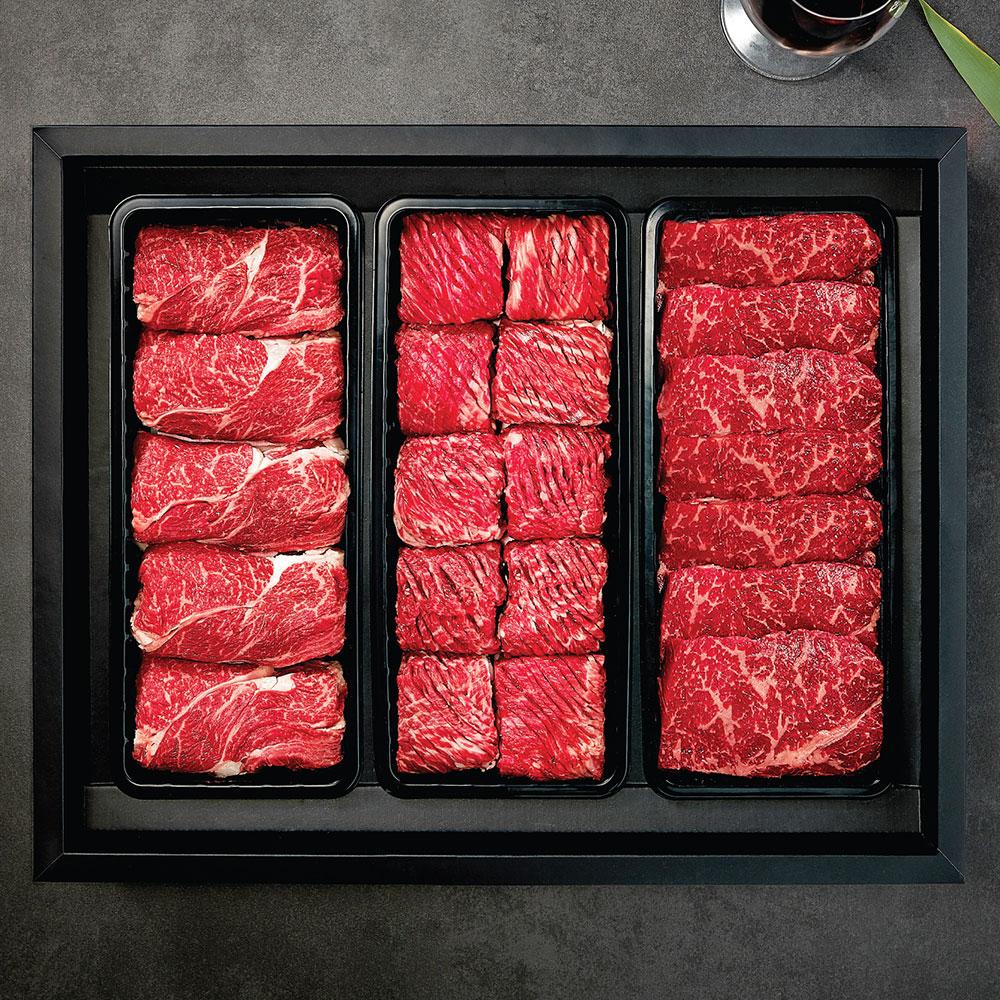 명품 VIP 한우세트 1호 냉장 (등심900g + 불갈비1.2kg + 안심(채끝)900g)