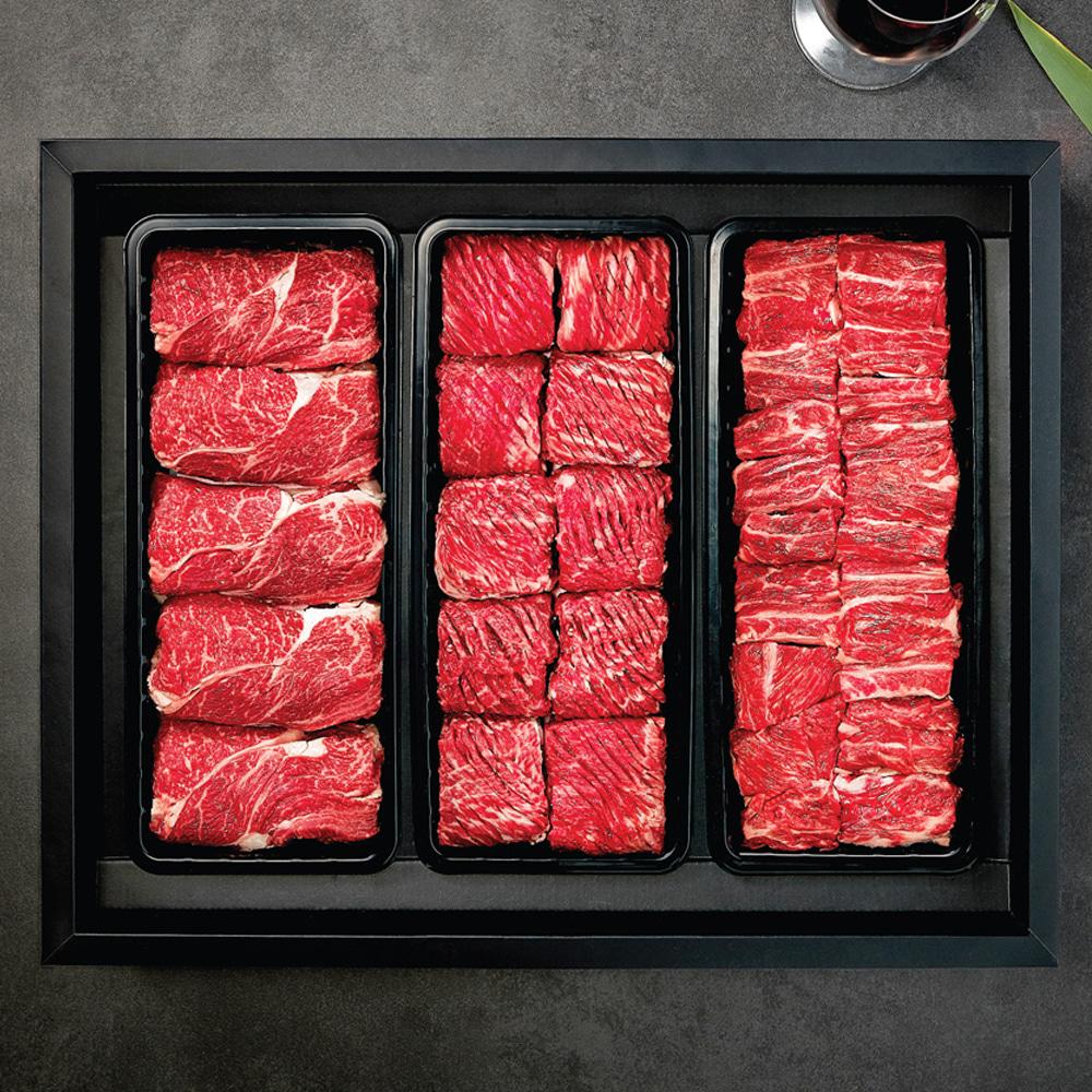 명품 VIP 한우세트 2호 냉장 (등심900g + 불갈비1.2kg + 찜갈비1.5kg)
