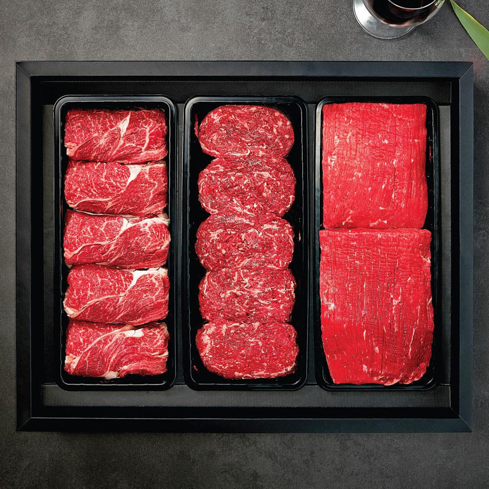 알뜰 한우세트 2호 냉장 (불고기1kg + 국거리1kg + 장조림1kg)
