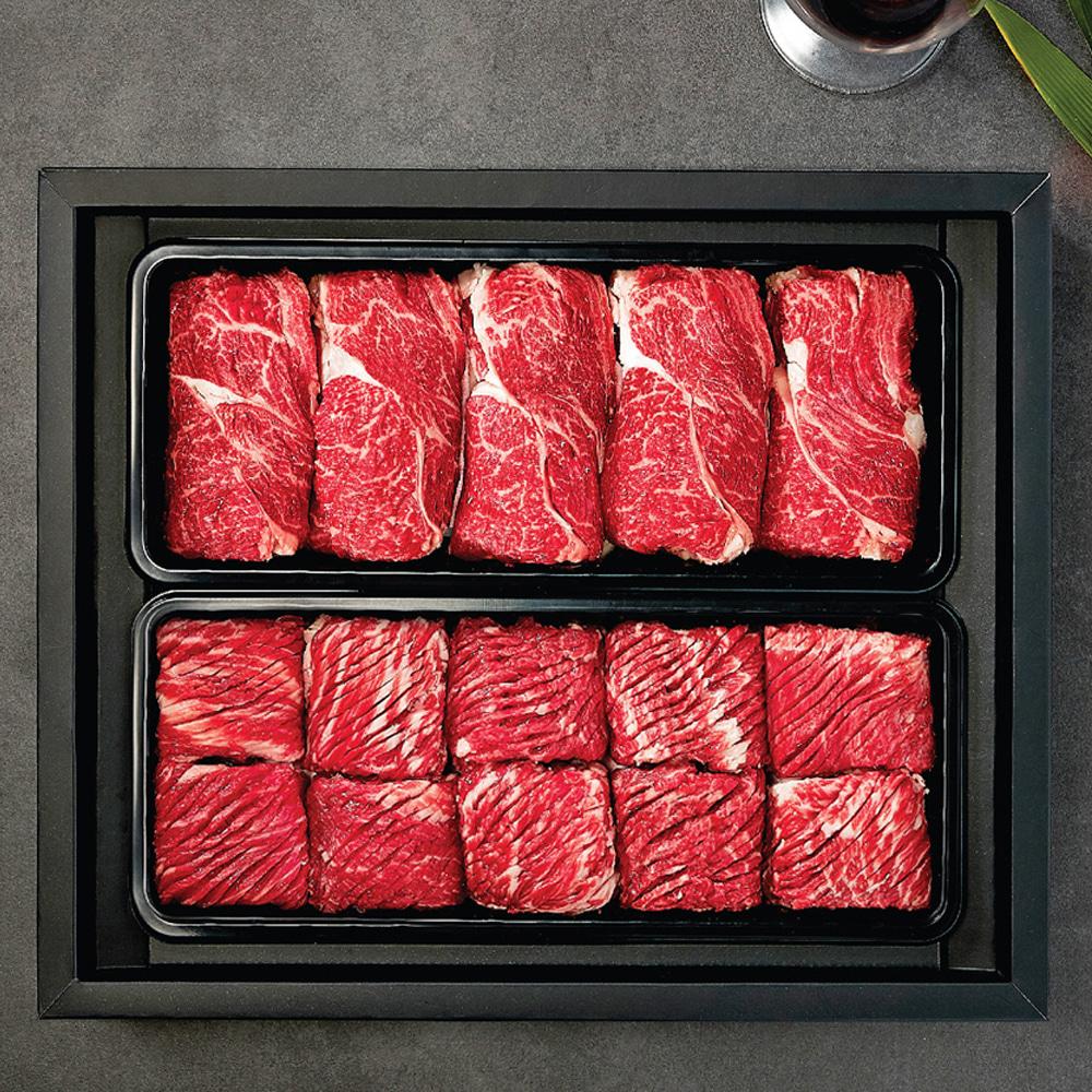 한우세트 1호 냉장 (등심900g + 불갈비1.2kg)