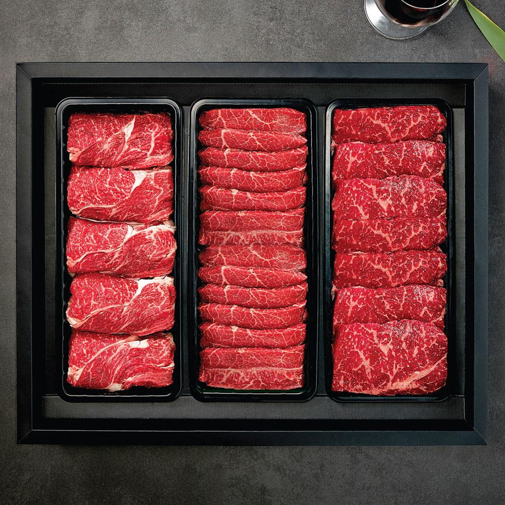 명품 VIP 한우세트 3호 냉장 (등심900g + 찜갈비1.5kg + 안심(채끝)900g)
