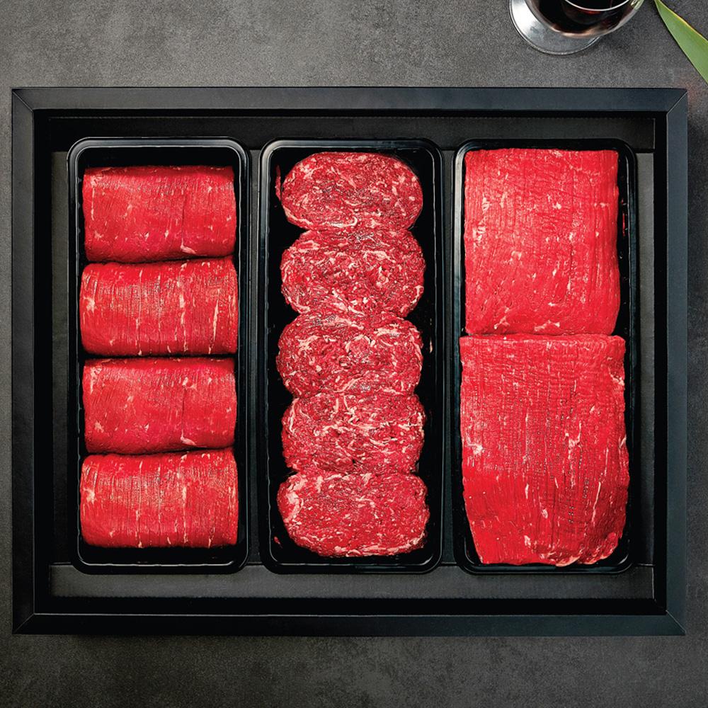 알뜰 한우세트 1호 냉장 (불고기1kg + 국거리1kg)