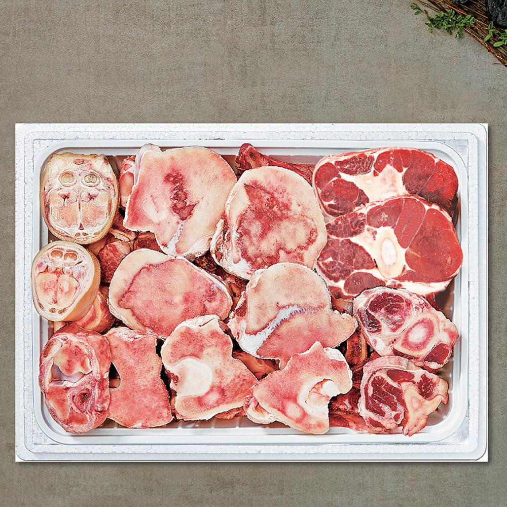 한우모듬곰거리세트 냉동 (사골2kg+한우뼈2.2kg+통사태0.5kg+한우족0.3kg)